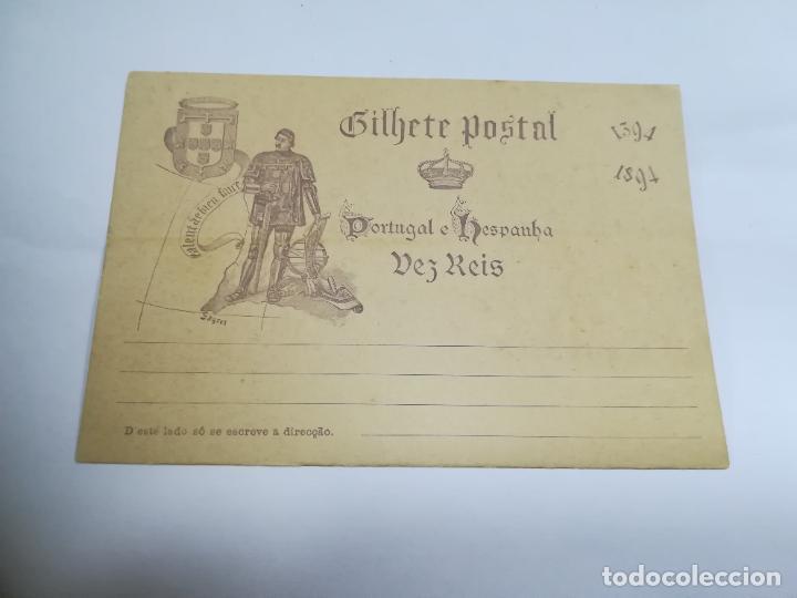 ENTERO POSTAL. 10 REIS. PORTUGAL E HESPANHA. SAGRES. 1394-1894. VER IMAGEN (Sellos - Extranjero - Entero postales)