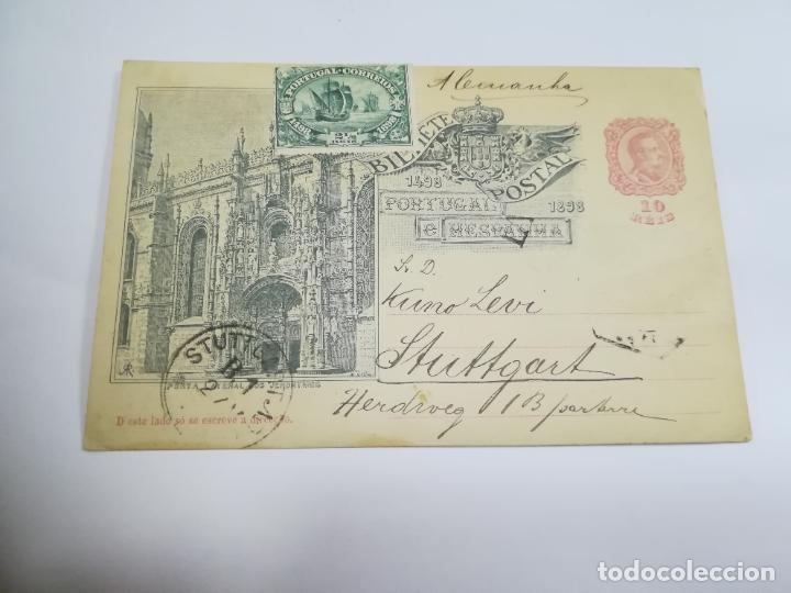 ENTERO POSTAL. 10 REIS. PORTUGAL E HESPANHA. SERIE MONUMENTOS. VER (Sellos - Extranjero - Entero postales)