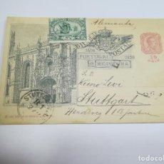 Sellos: ENTERO POSTAL. 10 REIS. PORTUGAL E HESPANHA. SERIE MONUMENTOS. VER. Lote 261532730