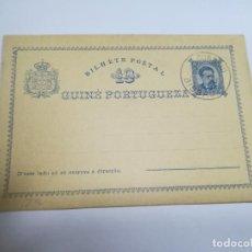 Sellos: ENTERO POSTAL. PORTUGAL. GUINEA PORTUGUESA. 10 REIS. CIRCULADA. VER. Lote 262388115