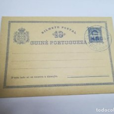 Sellos: ENTERO POSTAL. PORTUGAL. GUINEA PORTUGUESA. 10 REIS. CIRCULADA. VER. Lote 262388160