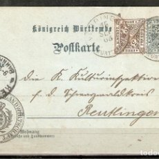Sellos: WURTTEMBERG. 1905. ENTERO POSTAL.. Lote 263018465