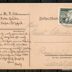 Timbres: ALEMANIA IMPERIO. 1943. ENTERO POSTAL. FRANQUEO. MI 843. Lote 266065673