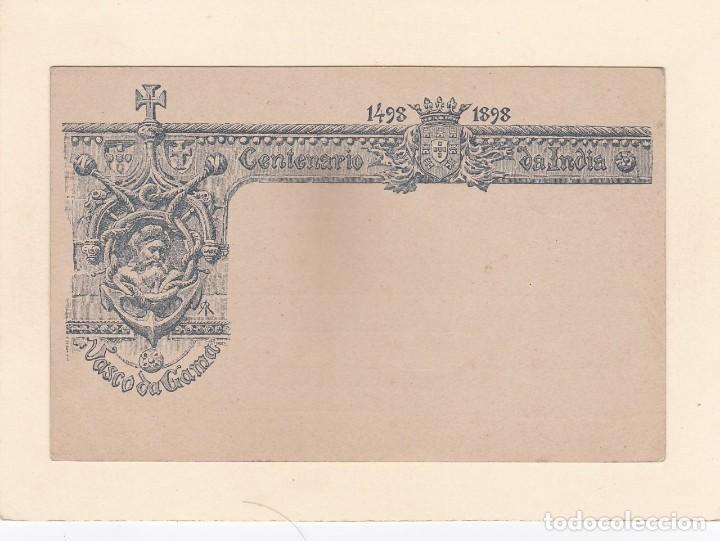 CENTENARIO DA INDIA 1498-1898. VASCO DA GAMA - UNION POSTALE UNIVERSELLE. PORTUGAL - 20 REIS (Sellos - Extranjero - Entero postales)