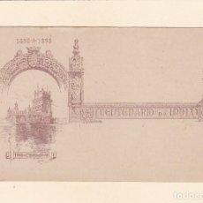 Timbres: CENTENARIO DA INDIA 1498-1898. TORRE STA. MARIA DE BELEM - UNION POSTALE UNIVERSELLE. MACAU - 3 AVOS. Lote 266331553
