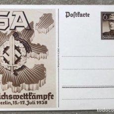 Sellos: TARJETA ENTERO POSTAL DE ALEMANIA NAZI III REICH - CONGRESO MILITAR SA - JULIO, 1938. Lote 269630158