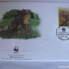 Sellos: SOBRE PRIMER DIA DE BIELORRUSIA 1993 CASTOR. Lote 276495038