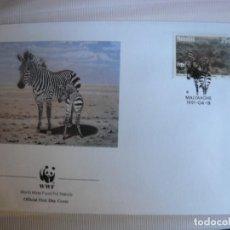 Sellos: SOBRE PRIMER DIA DE NAMIBIA CEBRAS 1991. Lote 276495208