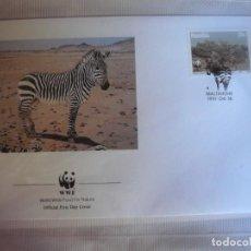 Sellos: SOBRE PRIMER DIA DE NAMIBIA CEBRAS 1991. Lote 276495228