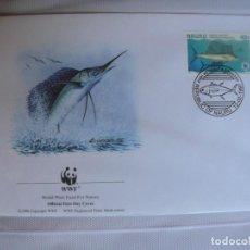 Timbres: SOBRE PRIMER DIA DE NAURU PECES 1997. Lote 276495398