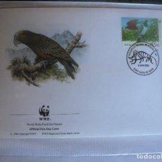 Timbres: SOBRE PRIMER DIA DE NUEVA ZELANDA 1993 AVES. Lote 276503613
