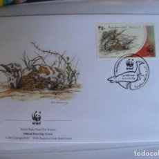 Sellos: SOBRE PRIMER DIA DE PALESTINA 2001 AVES. Lote 276505513