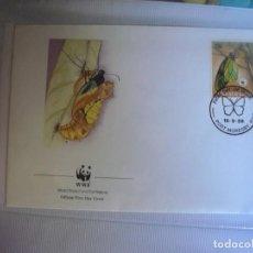 Sellos: SOBRE PRIMER DIA DE PAPUA NEW GUINEA 1988 MARIPOSAS. Lote 276514528