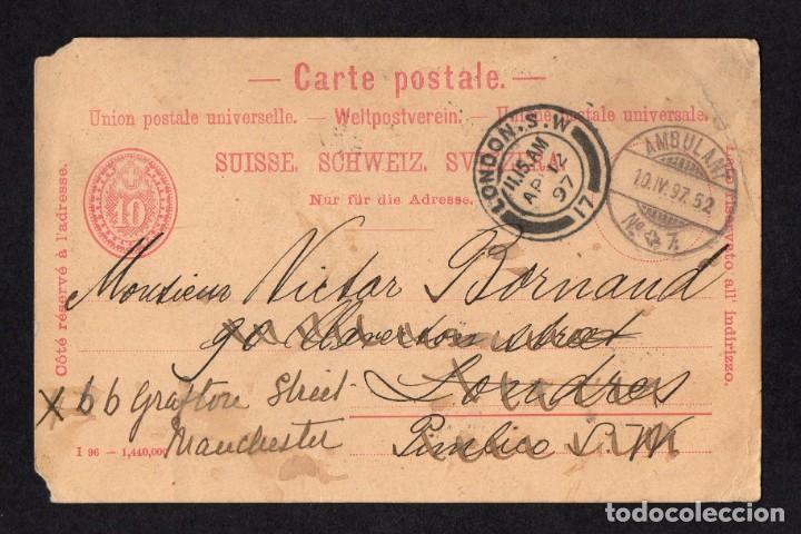 LONDRES 1897, ENTERO POSTAL AMBULANTE (Sellos - Extranjero - Entero postales)