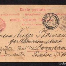Sellos: LONDRES 1897, ENTERO POSTAL AMBULANTE. Lote 285343318