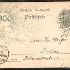 Timbres: ALEMANIA IMPERIO. 1900. ENTERO POSTAL P43. BERLIN. Lote 286296653