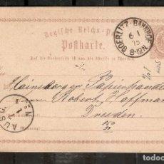 Timbres: ALEMANIA IMPERIO. 1875. ENTERO POSTAL. ESTACIÓN DE TREN DE GOERLITZ. Lote 286299213