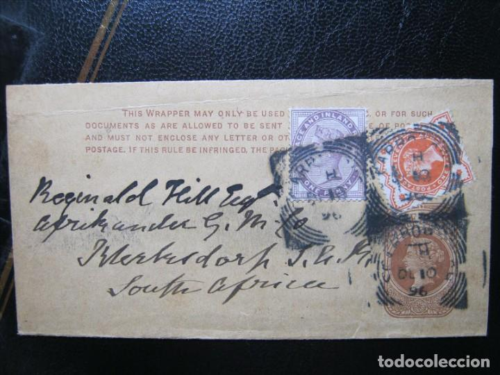 GRAN BRETAÑA INGLATERRA ENTERO POSTAL A SOUTH AFRICA!!! (Sellos - Extranjero - Entero postales)