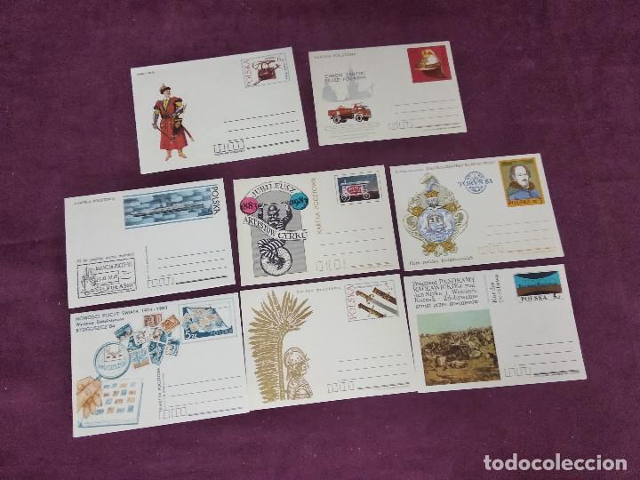 POLONIA, 7 ENTERO POSTALES, AÑOS 80, NUEVOS, EN SOBRE (Sellos - Extranjero - Entero postales)