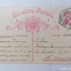 Sellos: BILHETE POSTAL, OPORTO - ESPAÑA, SRA FANNY SANJURJO DE ASPE, 6-JUNIO-1935, CIRCULADA. Lote 288648988