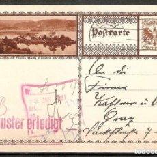 Sellos: AUSTRIA. ENTERO POSTAL ILUSTRADO. 1931. Lote 289395683