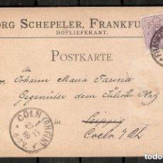 Sellos: ALEMANIA IMPERIO .1889. ENTERO POSTAL COMERCIAL. TARJETA IMPRESA. Lote 289396758
