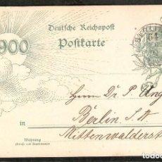 Sellos: ALEMANIA IMPERIO. 1900. ENTERO POSTAL . BERLIN. Lote 289397303