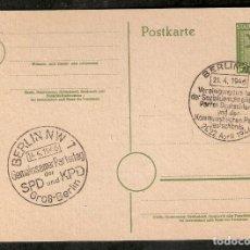 Sellos: ZONA SOVIÉTICA. ENTERO POSTAL. STADT BERLIN. 1946.. Lote 289425068
