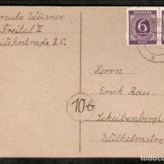 Sellos: ZONA AAS. ENTERO POSTAL. 1947. Lote 289426373