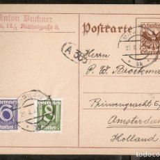 Sellos: AUSTRIA. ENTERO POSTAL. CIRCULADO EN 1927. Lote 290803018