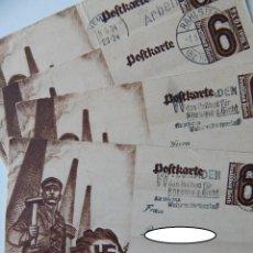 Sellos: NAZISMO / 4 ENTEROS POSTALES CIRCULADOS ALEMANIA 1934 - NATIONALER FEIERTAG 1934. Lote 293186733