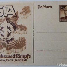 Sellos: NAZISMO / SA REICHSWETTKÂMPFE BERLIN 1938. Lote 293187493