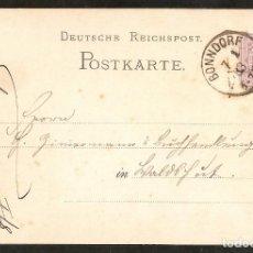 Sellos: ALEMANIA IMPERIO. 1883. POSTKARTE. BONNDORF. Lote 294812413