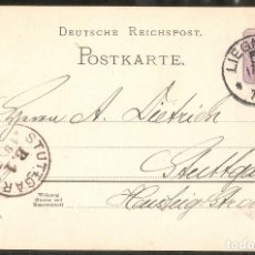 Sellos: ALEMANIA IMPERIO. 1888. POSTKARTE. LIEGNITZ. Lote 294812823