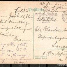 """Sellos: ALEMANIA IMPERIO. 1942 .POSTKARTE BERLIN-CHARLOTTENBURG. """" MIT DEM FÚHRER ZUM SIEG! """". Lote 294825308"""