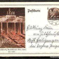 Sellos: ALEMANIA IMPERIO. 1933. ENTERO POSTAL HITLER, HINDENBURG. FECHADOR DETMOLD. Lote 295820868