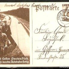 Sellos: ALEMANIA IMPERIO. 1933. ENTERO POSTAL HITLER. FECHADOR EGELN. Lote 295820988