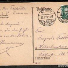 Sellos: ALEMANIA IMPERIO. 1929. ENT.POST. (BREMEN - DÍA DEL FILATELISTA ALEMÁN). Lote 295821988