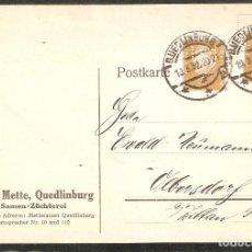 Sellos: ALEMANIA IMPERIO. 1932. ENT. POSTAL. FECHADOR QUEDLINBURG. Lote 295822283