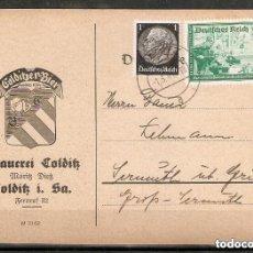 Sellos: ALEMANIA IMPERIO.1941. ENTERO POSTAL PROMOCIÓN DE LA CERVEZA. Lote 296578278