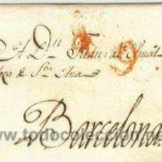 Sellos: CARTA PREFILATELICA TARRAGONA A BARCELONA 1825. Lote 3803147