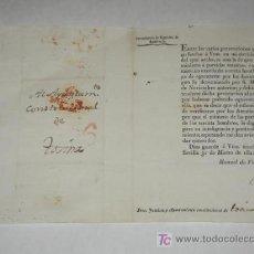 Sellos - Carta con marca Andalucia Baxa, con circular impresa de Intendencia de Ejército de Andalucía 1821 - 26397350