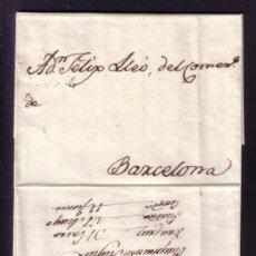 Sellos: MÉXICO/ESPAÑA. *GUERRA DE LA INDEPENDENCIA MEXICANA*.1819. CARTA DE VERACRUZ A BARCELONA. ÚNICA.. Lote 26741719