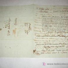 Sellos: CARTA COMERCIAL IMPRESA EN PAMPLONA EN 1817, CON RESPUESTA MANUSCRITA Y MARCAS PREFILATÉLICAS.. Lote 27015387