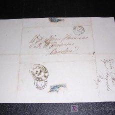 Sellos: CARTA BARCELONA - LERIDA, 1867. Lote 5513195