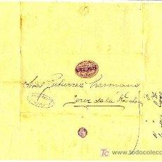 Sellos - COSARIO. 1884. ETIQUETA EN CARTA DE RICARDO DIAZ, COLOR MORADO. - 22394053