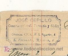 Sellos: COSARIO. 1905. DOCUENTO CON MARCA DE JOSE CEPILLO. FIRMA DE RECIBI DEL COSARIO Y SELLO DE TAMPON. - Foto 2 - 22410688