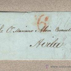 Sellos: CARTA PREFILATELICA VALLADOLID A ÁVILA. 1841. MARIANO ABOIN CORONEL. PREFILATELIA. Lote 24995642
