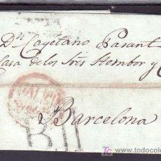 Sellos: .405 CARTA CORUÑA A BARCELONA, MARCA 7 R POCO IMPRESA, AL DORSO MARCA BARCELONA II EN NEGRO SIN CATA. Lote 10780088