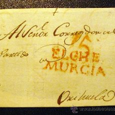 Sellos: ESPAÑA. PLICA ELCHE A ORIHUELA . RARA . Lote 26691107